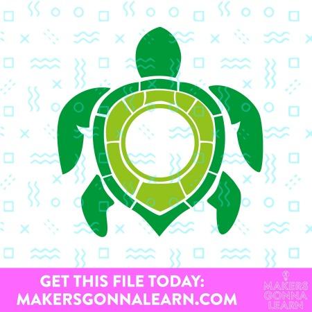 Monogram Sea Turtle