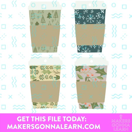 Coffee Cup Gift Tag