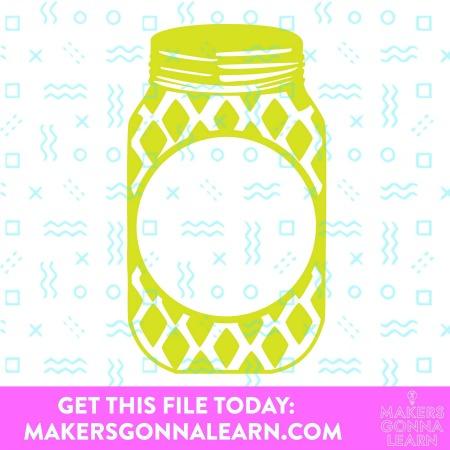 Monogram Mason Jar