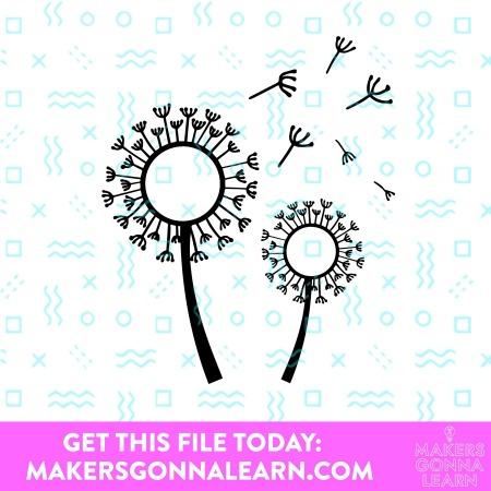 Monogram Dandelions