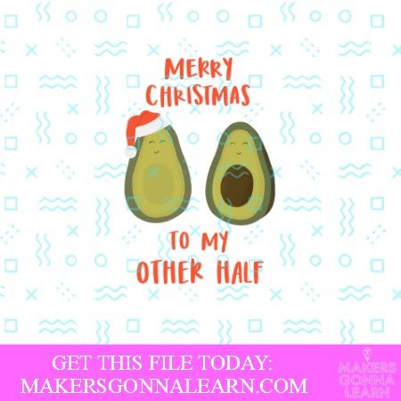 Avocado Merry Christmas