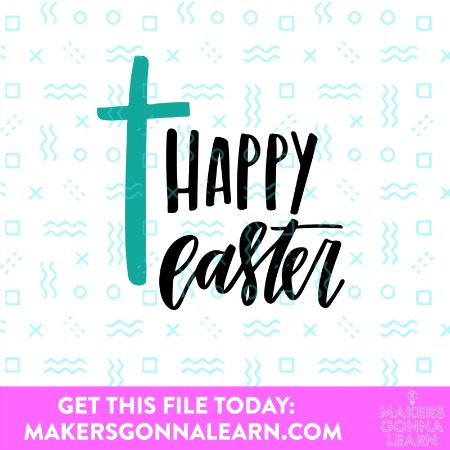 Happy Easter with Cross