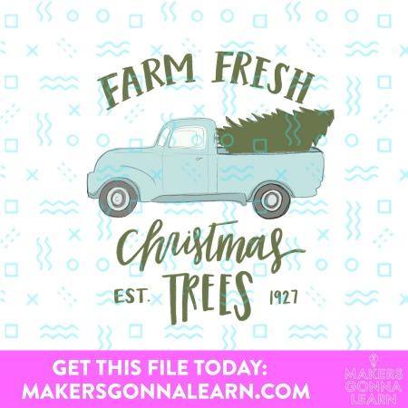 Christmas Tree Vintage Truck