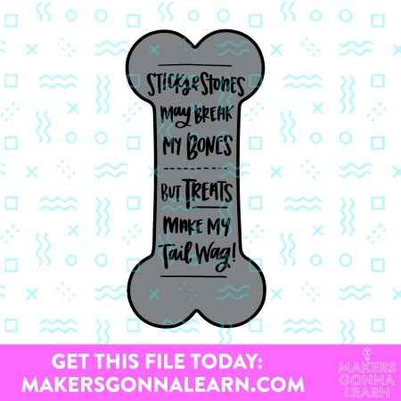 Sticks and Stones Dog Bone