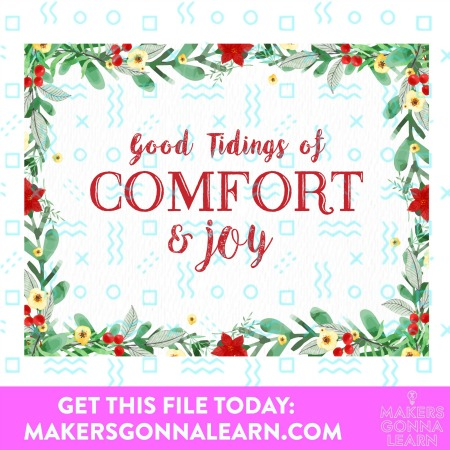 GOOD TIDINGS OF COMFORT & JOY HOLIDAY CARD