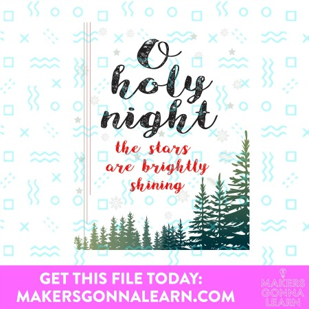 O HOLY NIGHT HOLIDAY CARD SVG BUNDLE