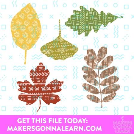 Fall Print Pattern Leaves