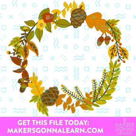 FALL WREATH SVG CUT FILE