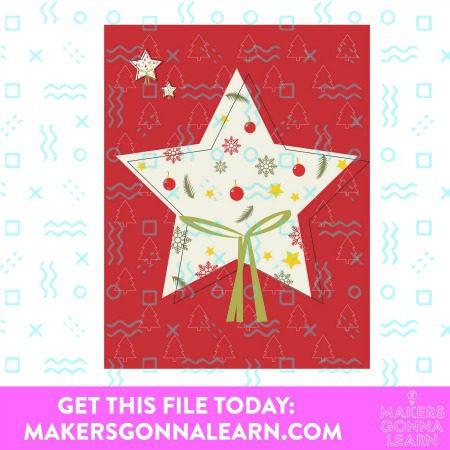 CHRISTMAS STAR CARD SVG BUNDLE