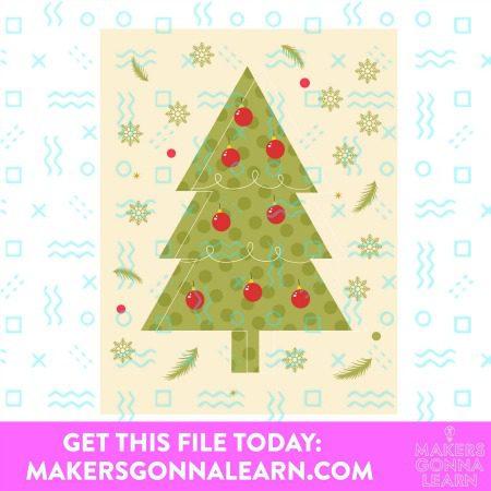 CHRISTMAS TREE CARD SVG BUNDLE