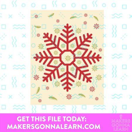 SNOWFLAKE CHRISTMAS CARD SVG BUNDLE