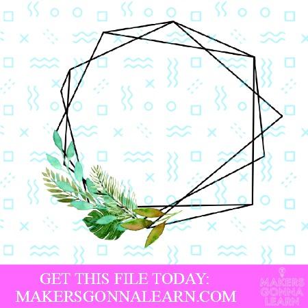 Hexagon Leaf Frame