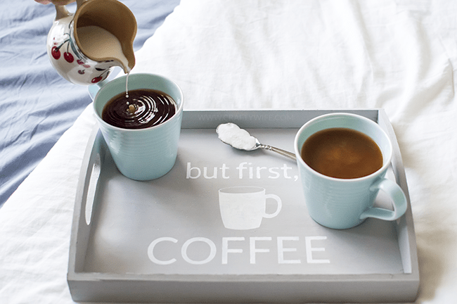 But First Coffee Chalk Paint Tray22