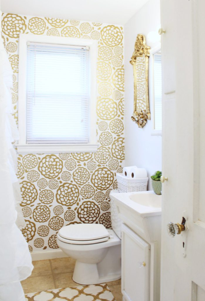 Glam Bathroom Makeover 33 699x1024