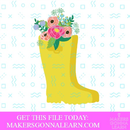 Rain Boots with Flowers