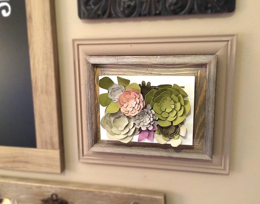 Paper Succulent Frame Craft Room