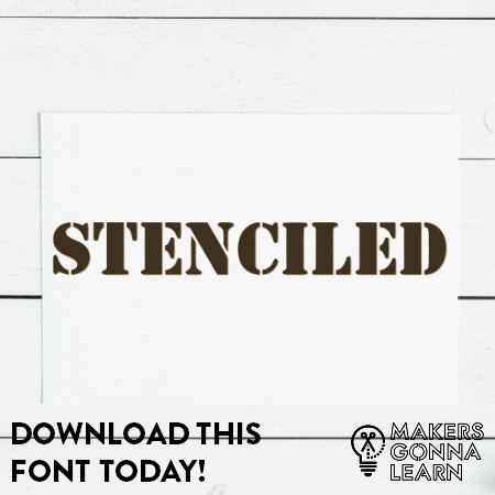 Stenciled