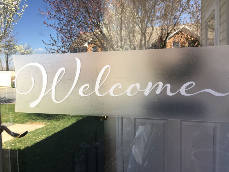 Welcome Decal With Transfer Tape