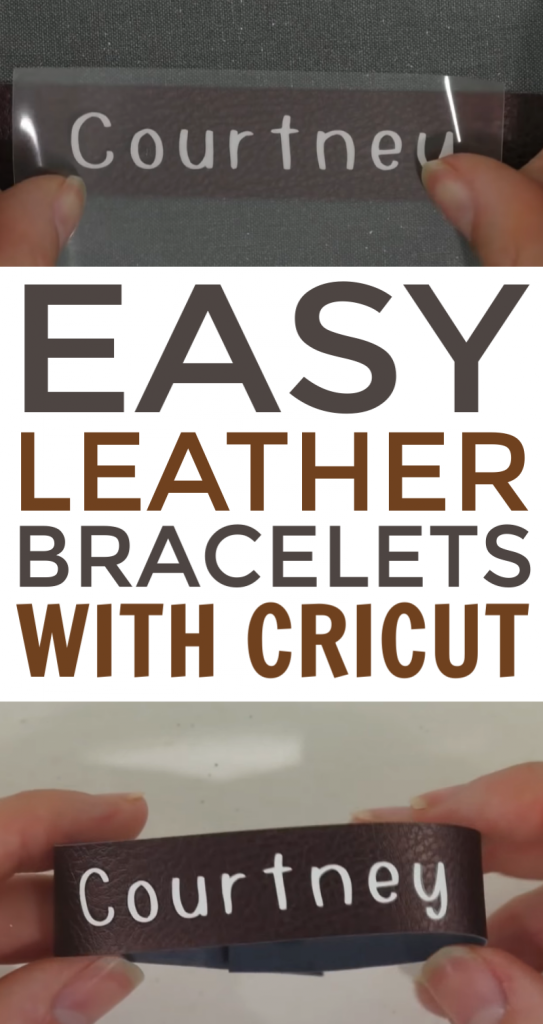 Easy Leather Bracelets With Cricut