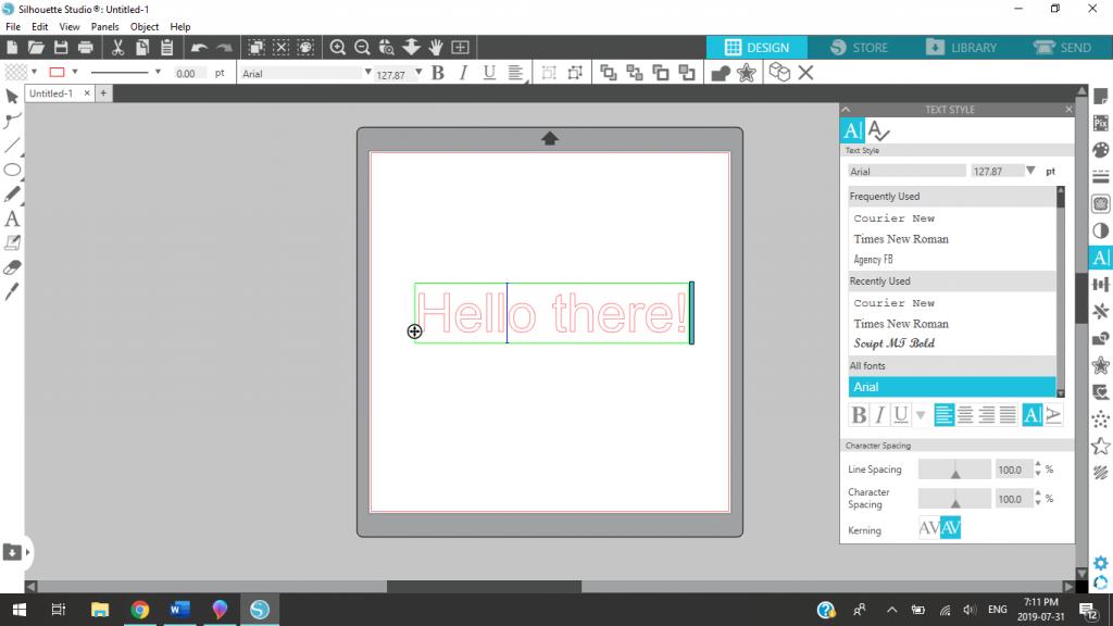 Editing Text In Silhouette Studio
