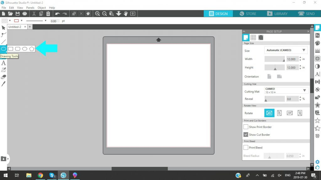 Silhouette Studio Drawing Tools
