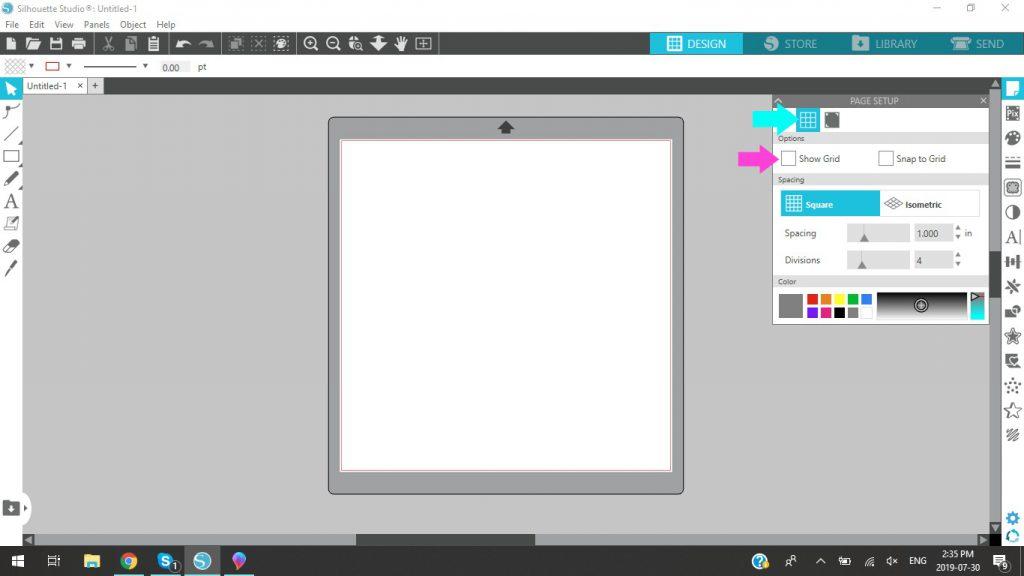 Silhouette Studio Reveal Grid