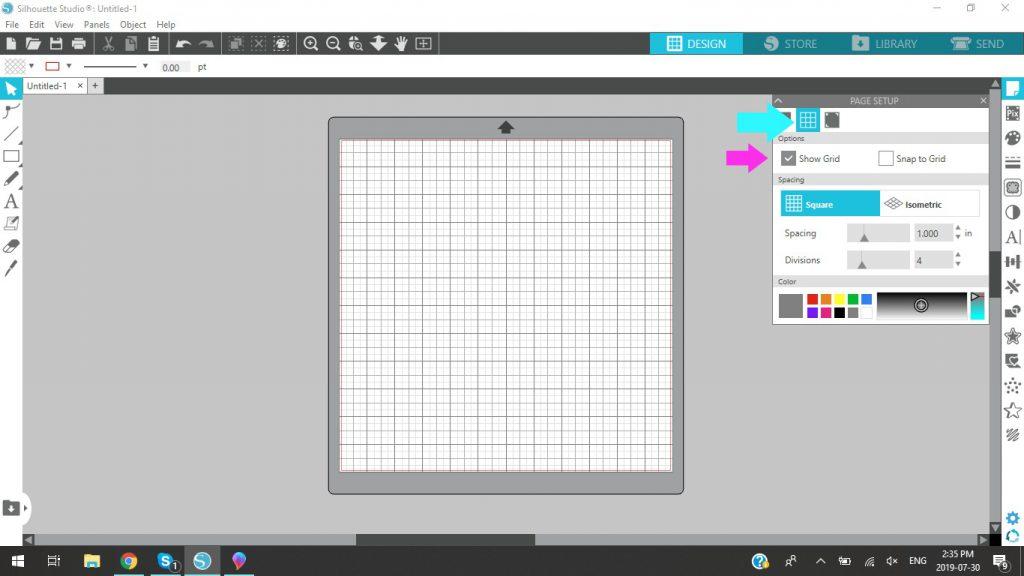 Silhouette Studio Show Grid