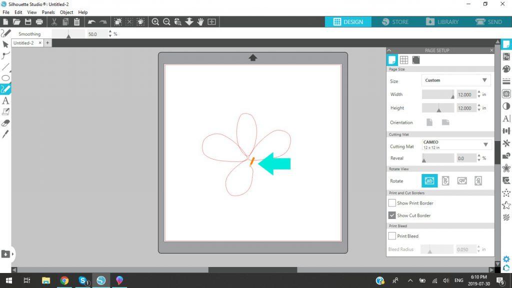 Silhouette Studio Using Freehand Drawing Tool