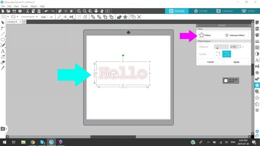 Silhouette Studio Using The Offset Tool
