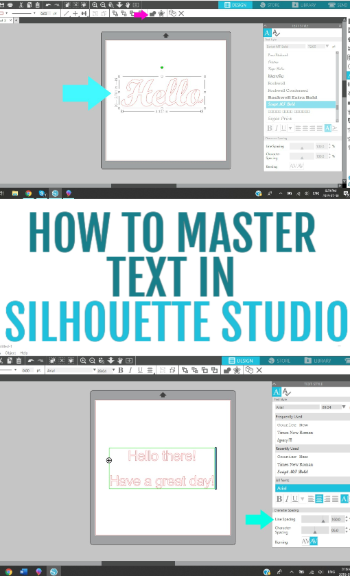 How To Master Text In Silhouette Studio