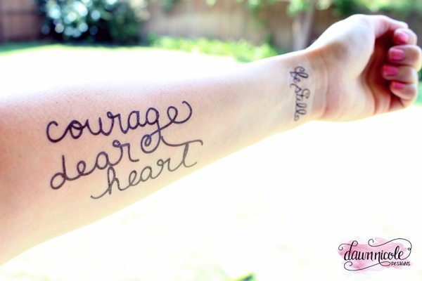 Hand Lettered Temporary Tattoos 6