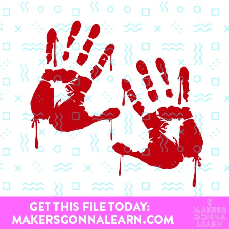BLOODY HANDPRINTS SVG CUT FILE
