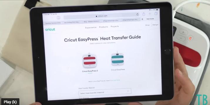 Cricut Easypress Heat Transfer Guide