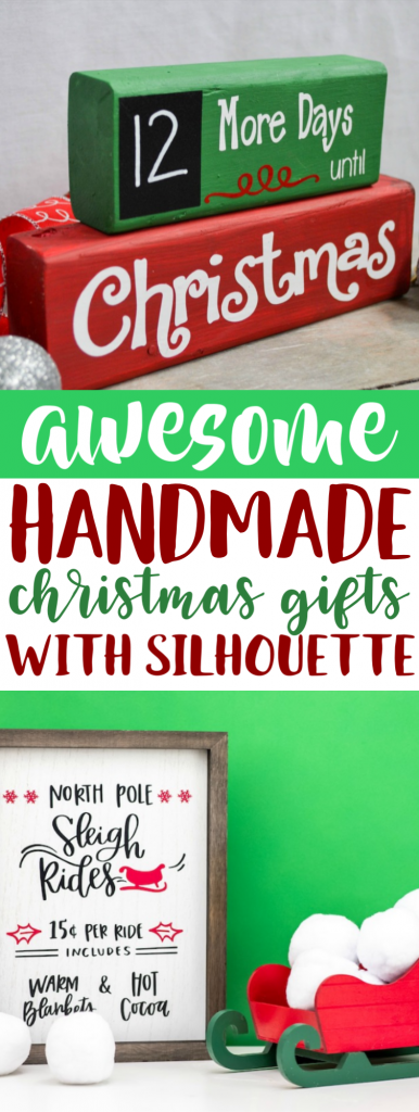 Awesome Handmade Christmas Gifts With Silhouette