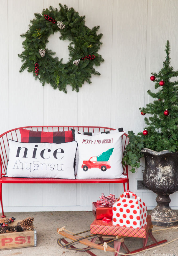 Christmas Pillows With Custom Iron On Designs
