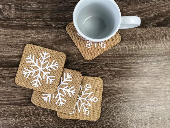 Cricut Snowflake Coasters