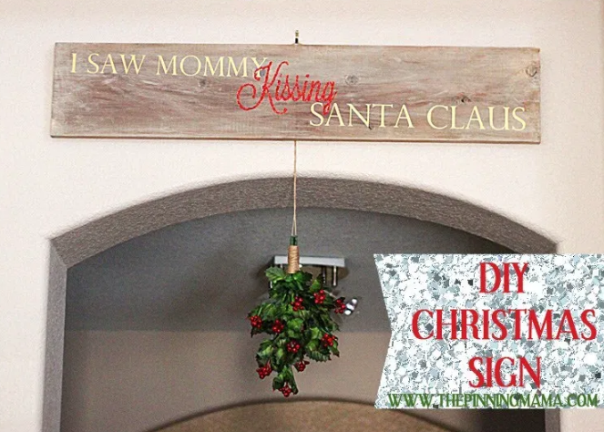 Mommy Kissing Santa Claus Sign