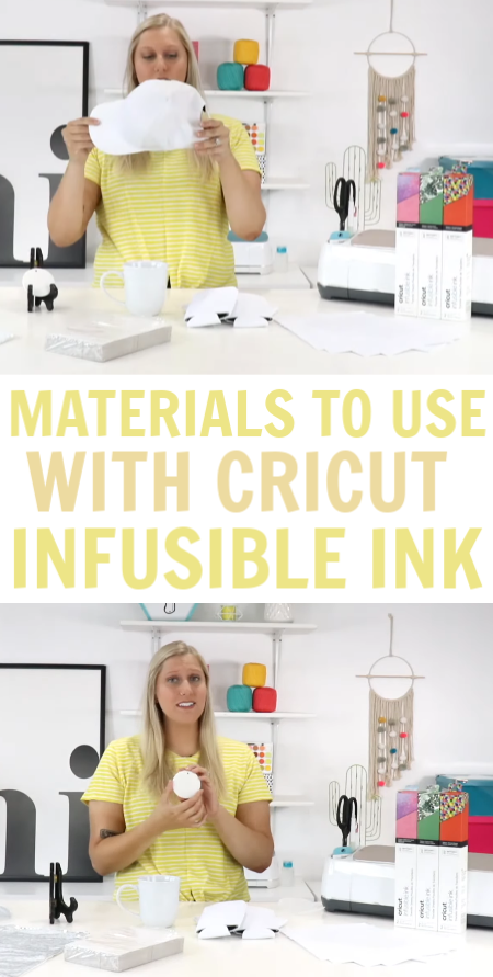 Materials you can use With Cricut Infusible Ink