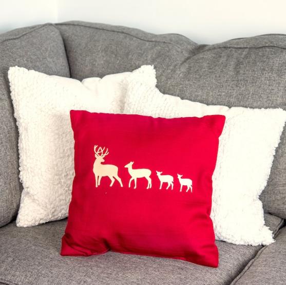 Multi Layer Iron On Christmas Pillow