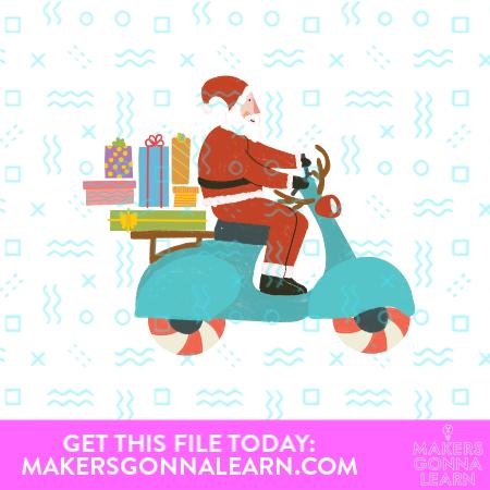 MGL_Santa On A Scooter