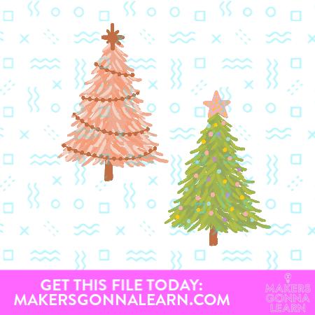 Print and Cut Christmas Trees