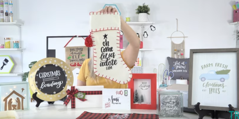 Use Htv And Your Cricut To Personalize Christmas Stockings