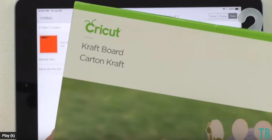 Using Cricut Kraft Board For Debossing Project