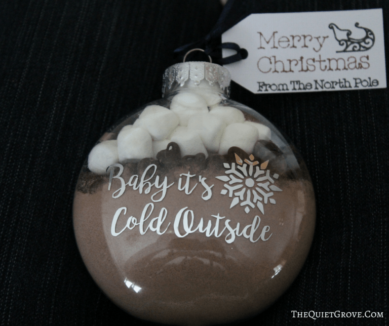 Diy Baby It's Cold Outside Hot Cocoa Ornament