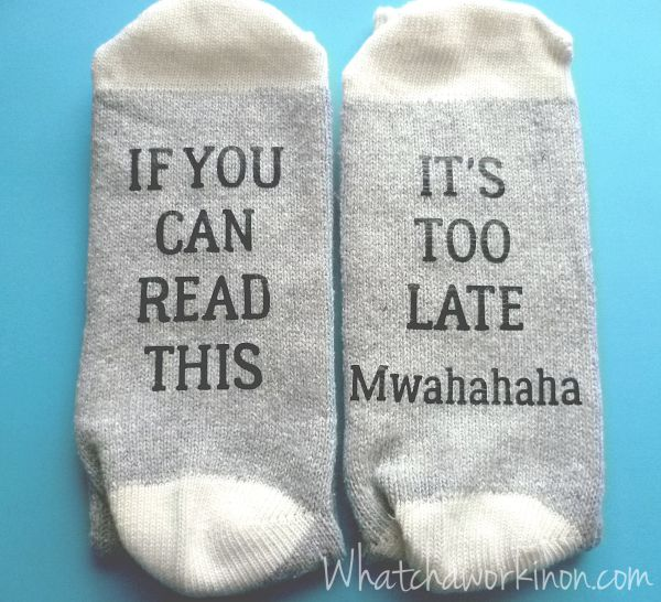 If You Can Read Socks you can make yourself