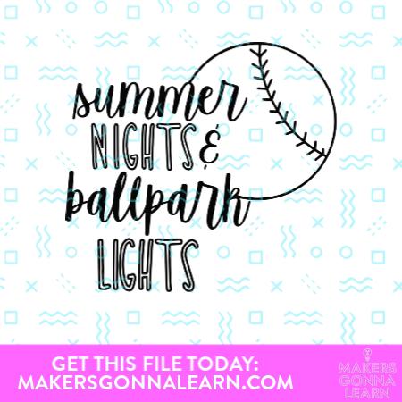 Summer Nights Ballpark Lights