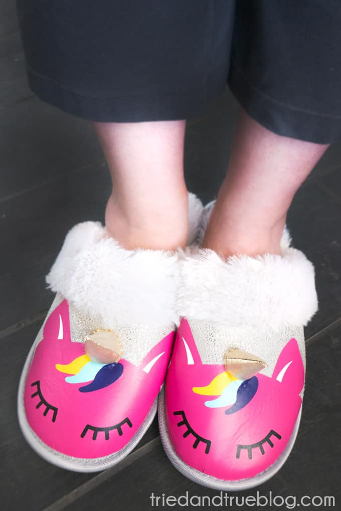Vinyl Unicorn Slippers