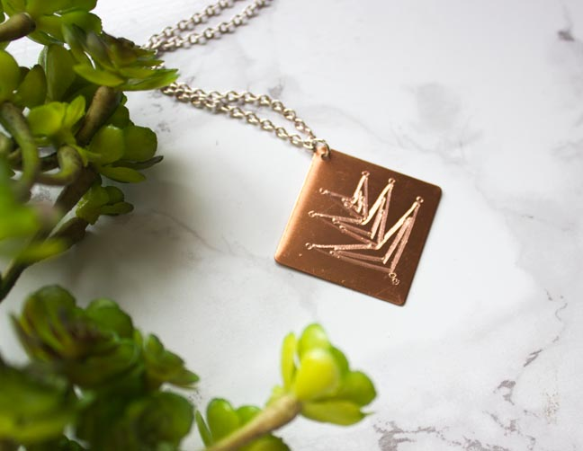 Etched metal jewelry to make with Silhouette