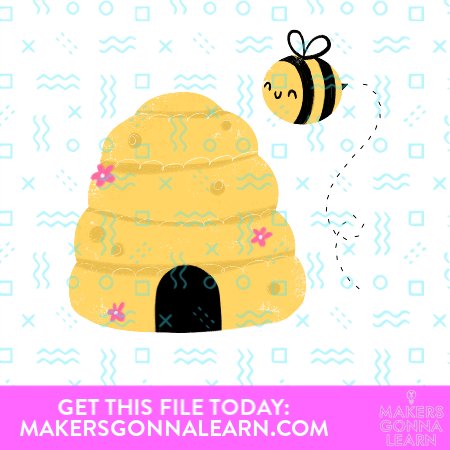 Bee With Hive