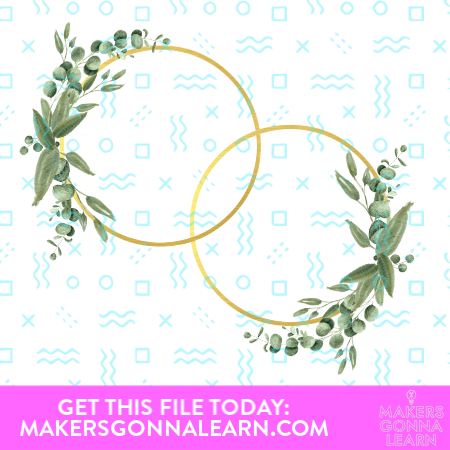Gold Circles With Greenery